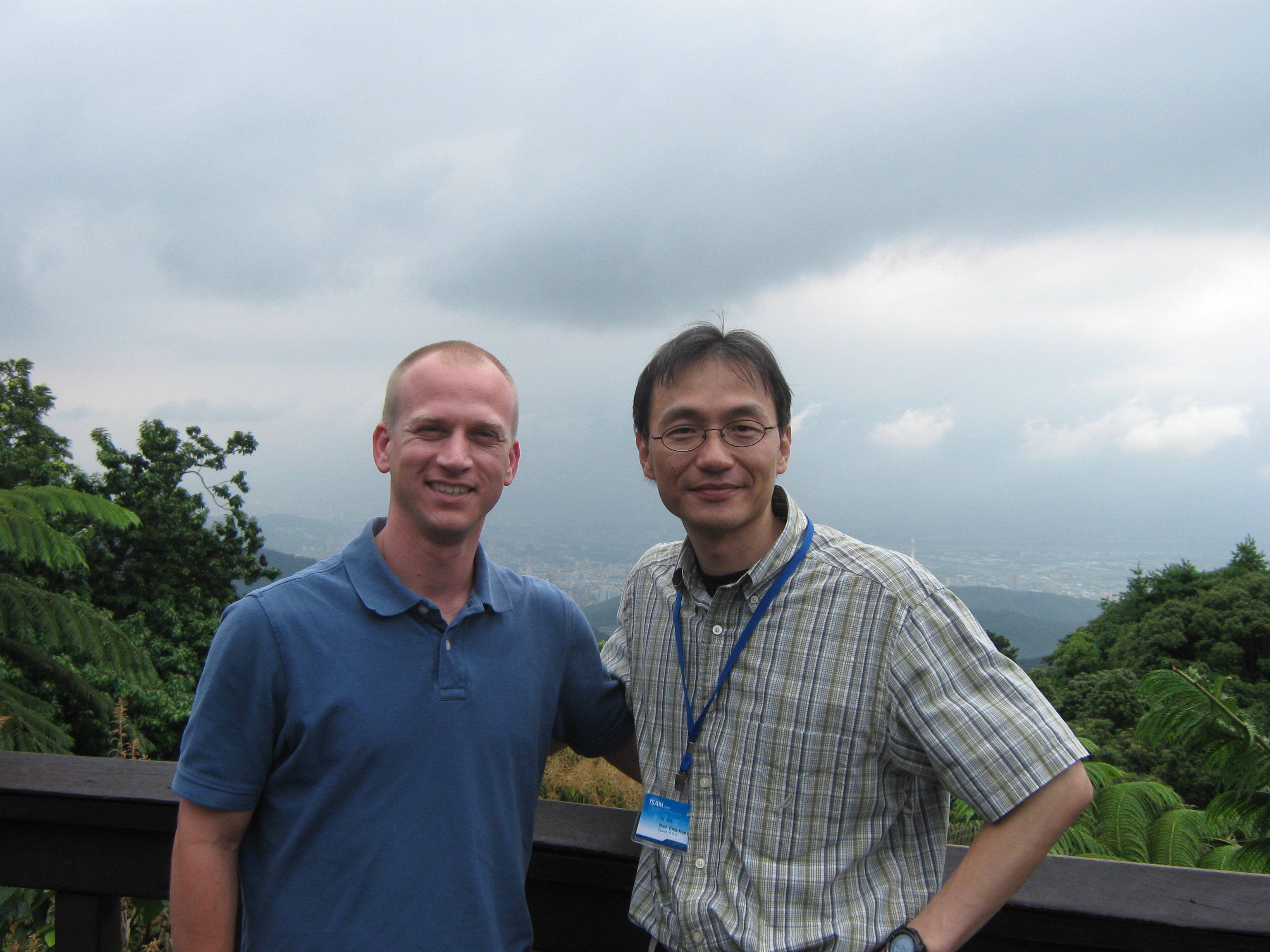 Dr. Kuo and me on mountain overlooking Taipei